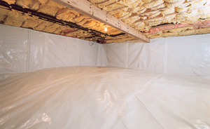 Crawl Space Moisture Barrier After in Price