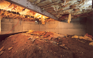 Crawl Space Moisture Barrier before in Salt Lake City