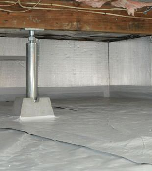 Installed crawl space insulation in Roy