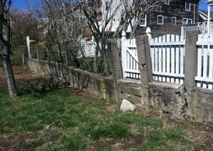 a retaining wall installed in Park City
