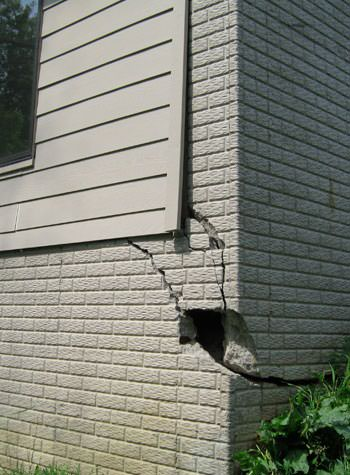 severe cracking of structural walls in Orem
