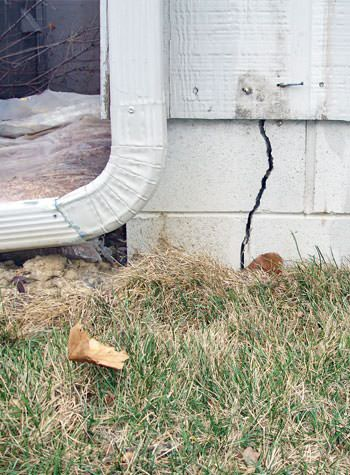 foundation wall cracks due to street creep in Spanish Fork