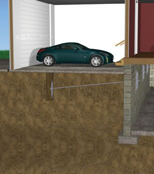 Graphic depiction of a street creep repair in a Springville home