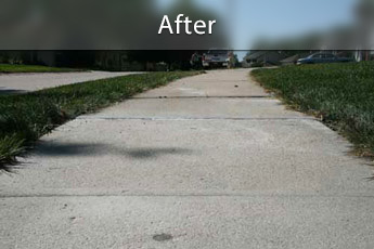 After photo of PolyLevel® concrete sidewalk repair in Salt Lake City