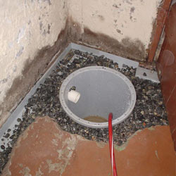 Installing a sump in a sump pump liner in a Park City home