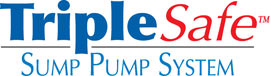 Sump pump system logo for our TripleSafe™, available in areas like Vernal