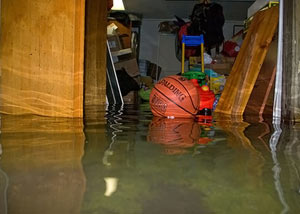 Flooded basement in Salt Lake City