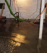 Several feet of floodwaters in a Payson basement