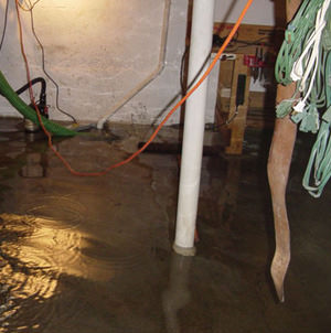 Foundation flooding in a Sandy,Utah home