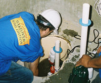 installing a sump pump and backup sump pump system in Centerville, UT