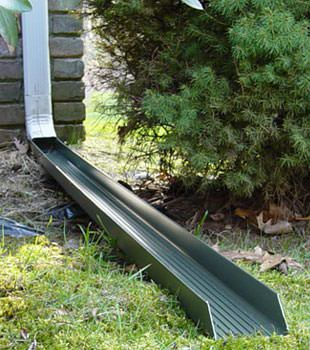 Gutter downspout extension installed in Springville
