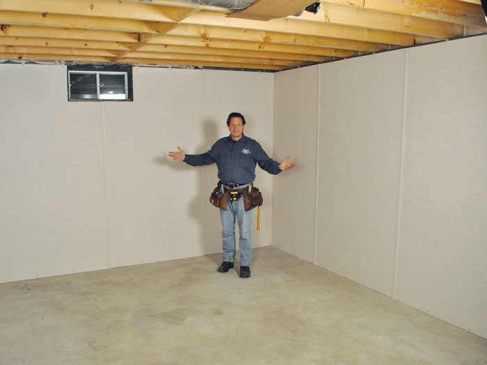 ... Tooele Basement Insulation Covered By EverLast™ Wall Paneling, With  SilverGlo™ Insulation Underneath
