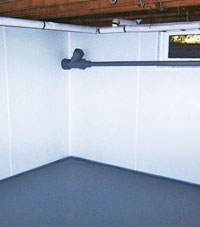 Plastic basement wall panels installed in a Orem, Utah home