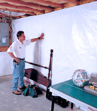 Plastic 20-mil vapor barrier for dirt basements, Orem, Utah installation